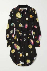 Diane von Furstenberg - Peyton Printed Silk-blend Jacquard Shirt - Black