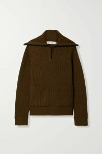 Proenza Schouler White Label - Ribbed Wool Sweater - Army green