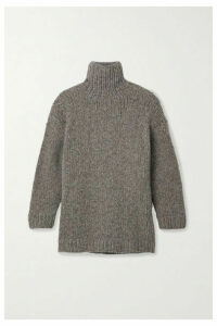 Lauren Manoogian - Oversized Mélange Alpaca, Merino Wool And Cotton-blend Turtleneck Sweater - Gray