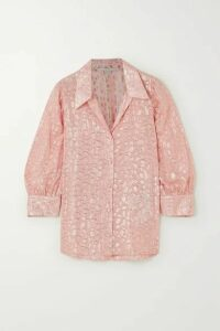 Stella McCartney - Metallic Fil Coupé Silk-blend Shirt - Pink