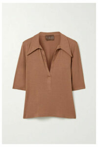 Albus Lumen - Stretch-jersey Polo Shirt - Camel