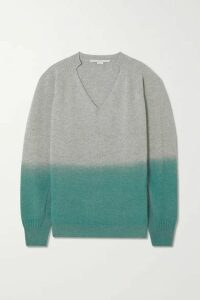 Stella McCartney - Oversized Ombré Cashmere And Wool-blend Sweater - Mint