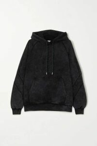 Ninety Percent - + Net Sustain Sprayed Organic Cotton-terry Hoodie - Black