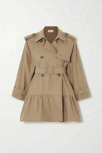 REDValentino - Belted Tiered Gabardine Trench Coat - Tan