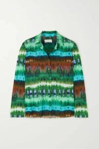 Marcia - Paris Tie-dyed Stretch-jersey Shirt - Green
