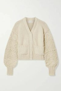 APIECE APART - Jacinta Cropped Cotton Cardigan - Ecru