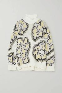 3.1 Phillip Lim - Intarsia Knitted Turtleneck Sweater - White