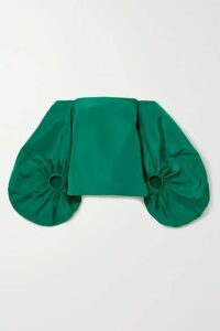 Rosie Assoulin - Off-the-shoulder Silk-faille Top - Emerald