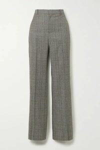 Balenciaga - Prince Of Wales Checked Wool Straight-leg Pants - Gray