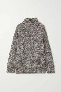 Co - Oversized Mélange Merino Wool Turtleneck Sweater - Light brown