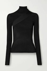 Peter Do - Seatbelt Ribbed-knit Turtleneck Top - Black