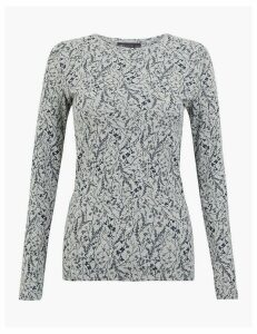 M&S Collection Pure Cotton Long Sleeve Top
