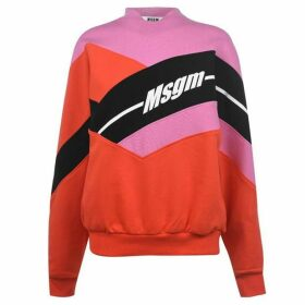 MSGM Colour Block Oversized Sweater