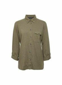 Womens Khaki Utility Shirt, Khaki