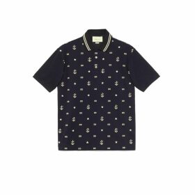 Symbols embroidered polo