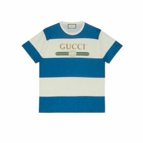 Gucci logo striped T-shirt