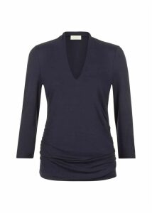 Aimee Ruched Top Navy