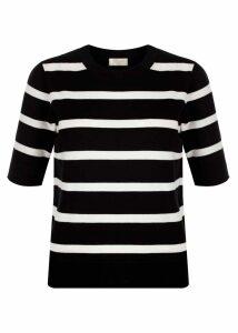 Paula Striped Sweater Black Ivory