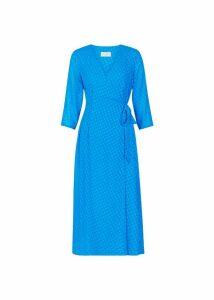 Cassie Wrap Dress Cobalt