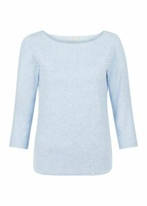 Sonya Top Pale Blue Marl