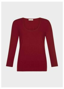 Daisy Top Bordeaux