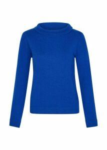 Audrey Wool Cashmere Sweater Cobalt