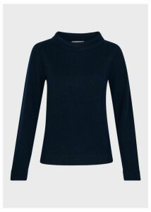 Audrey Wool Cashmere Sweater Navy