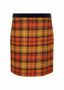 Christine Wool Skirt Orange Multi