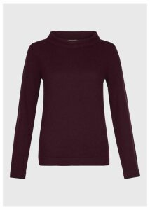 Audrey Wool Cashmere Sweater Grape