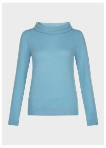 Audrey Wool Cashmere Sweater Sea Spray