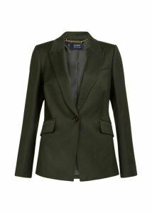 Larna Wool Blend Jacket Olive