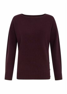 Dawn Wool Cashmere Sweater Aubergine