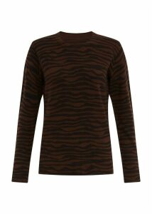 Zadie Merino Wool Sweater Chestnut Multi