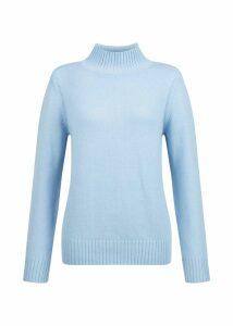 Freda Merino Wool Blend Sweater Pale Blue