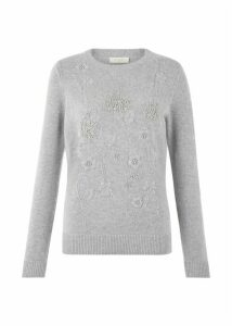 Camille Merino Wool Blend Sweater Grey