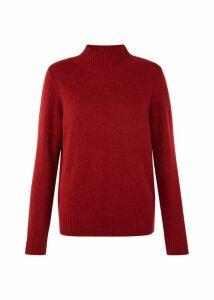 Freda Merino Wool Blend Sweater Berry