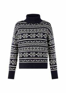 Halley Sweater Navy Ivory