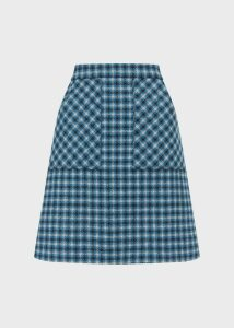 Elodie Wool Skirt Kingfisher Mult