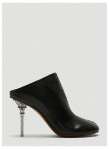 Vetements Eiffel Tower Heel Leather Mules in Black size EU - 39