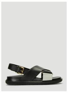 Marni Fussbett Sandals in Black size EU - 37.5