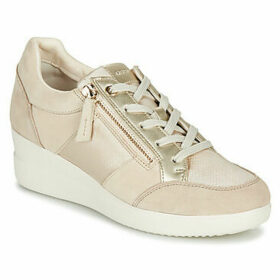 Geox  D STARDUST  women's Shoes (High-top Trainers) in Beige