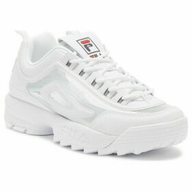 Fila  Disruptor II Clear Womens White Trainers  women's Trainers in White