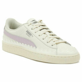 Puma  Womens Whisper White Rubberized Basket Trainers  women's Trainers in White