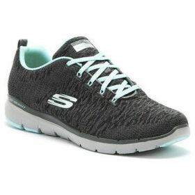 Skechers  Flex Appeal 3.0 Womens Charcoal Grey / Blue Trainers  women's Trainers in Grey