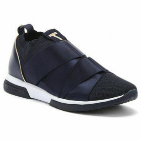Ted Baker  Queana Womens Navy Textile Trainers  women's Trainers in Blue