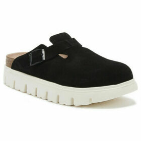 Birkenstock  Boston Suede Womens Black Chunky Clogs  women's Clogs (Shoes) in Black