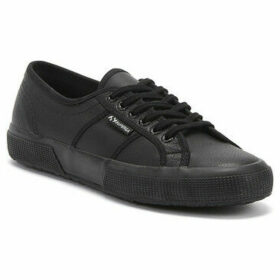 Superga  2750 Efglu Womens Black Trainers  women's Trainers in Black