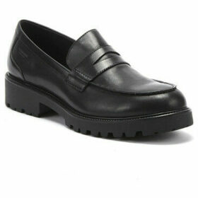 Vagabond  Kenova Womens Black Leather Loafers  women's Loafers / Casual Shoes in Black