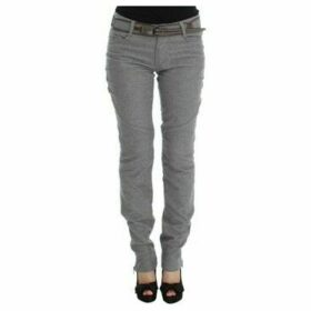 Ermanno Scervino  Gray Cotton Slim Fit Casual Bootcut Pants  women's Trousers in multicolour