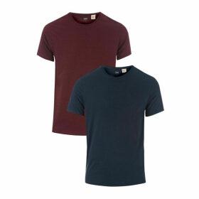 Mens Slim 2 Pack Crew T-Shirts